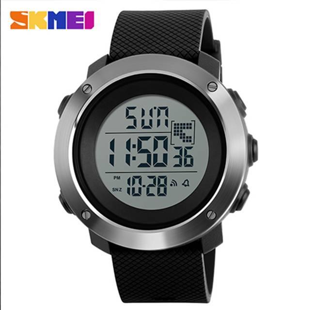 SKMEI Multi-function Dual Time PU Resin Band Digital Sport Men's Watch (Model: 1267)