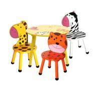 Kindergarten Children's Animals Zoo Table & Chairs Set (ZOOF201608)
