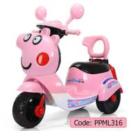 Peppa Pig Children's 2-3 YRS Electric 6 Hrs Battery LED lighting & Music Motorcycle (PPML316)