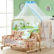 Multi-function Foldable All in 1 Baby Cradle Bunk Bed Set (Model:NBPY210)