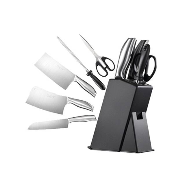 OKO German Cutlery Kitchenware Stainless Steel Knife Set 5 Pieces Combination with stand board (Model: OKO-2017)