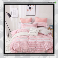 The Gift 100% Cotton Double Fitted Bed Sheets (MS 40404)