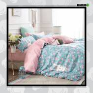 The Gift 100% Cotton Double Fitted Bed Sheets (MS 40405)