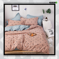The Gift 100% Cotton Double Fitted Bed Sheets (MS 40406)