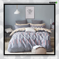 The Gift 100% Cotton Double Fitted Bed Sheets (MS 40407)