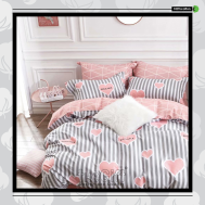 The Gift 100% Cotton Double Fitted Bed Sheets (MS 40408)