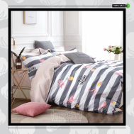 The Gift 100% Cotton Double Fitted Bed Sheets (MS 40409)