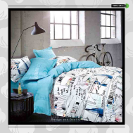 The Gift 100% Cotton Double Fitted Bed Sheets (MS 40412)