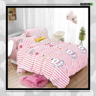 The Gift 100% Cotton Double Fitted Bed Sheets (MS 40414)