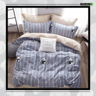 The Gift 100% Cotton Double Fitted Bed Sheets (MS 40415)