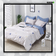 The Gift 100% Cotton Double Fitted Bed Sheets (MS 40416)