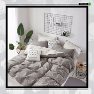 The Gift 100% Cotton Double Fitted Bed Sheets (MS 40418)