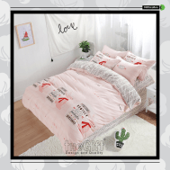 The Gift 100% Cotton Double Fitted Bed Sheets (MS 40419)