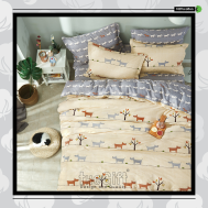 The Gift 100% Cotton Double Fitted Bed Sheets (MS 40420)