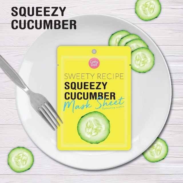 Cathy Doll Sweet Receipe Mask Sheet #Cucumber