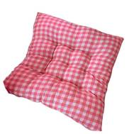Red Checkered Tatami Soft Chair & Stool Cushion 40x40cm(Model:MDJ-8539)