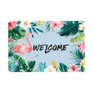 Welcome Flamingo Anti-Slip 40 x 60 cm Floor Carpet Mat (2 Pc Set)(Model:BC009)