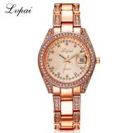 LVPAI Pave Crystal Date Just Analog Quartz Movement Women's Watch (Model: P001)