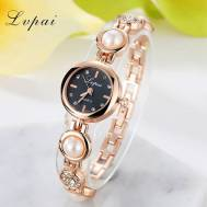 LVPAI Crystal Pearl Analog Quartz Movement Women's Bracelet Watch (Model: P167)