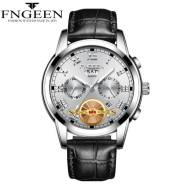 FNGEEN Time Dated Week Luminous Leather Strap Quartz Movement Men's Watch (Model: 4001)