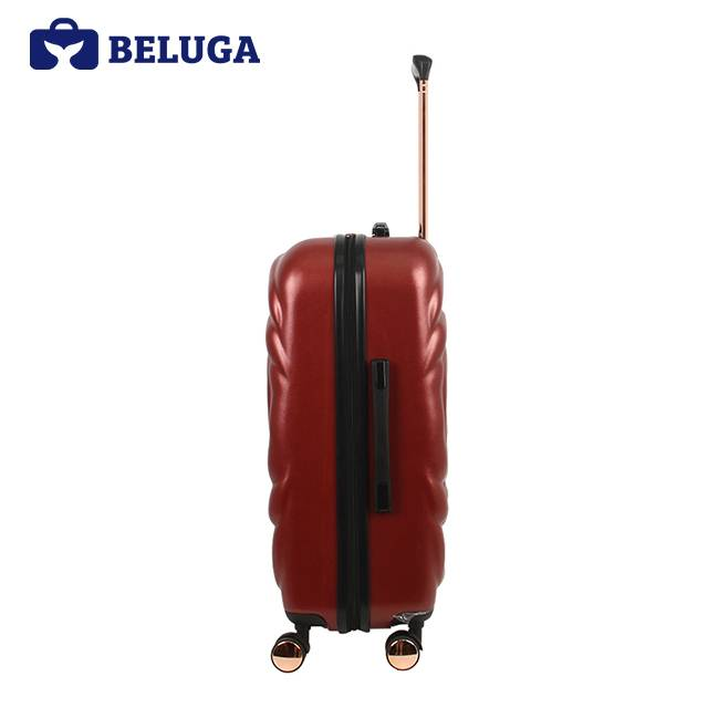 BELUGA Rose Lady Collection 20 Inches Travel Luggage Red Wine (Model:BE-ROSE-20R)
