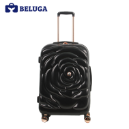 BELUGA Rose Lady Collection 24 Inches Travel Luggage Black (Model:BE-ROSE-24B)
