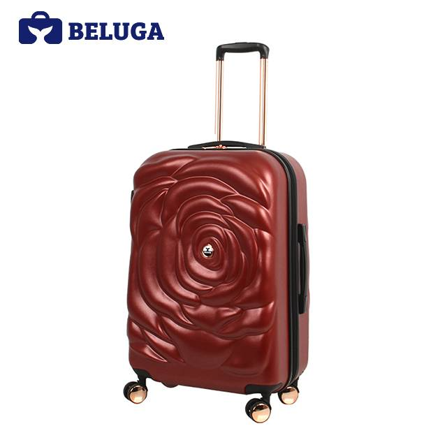 BELUGA Rose Lady Collection 24 Inches Travel Luggage Red Wine (Model:BE-ROSE-24R)