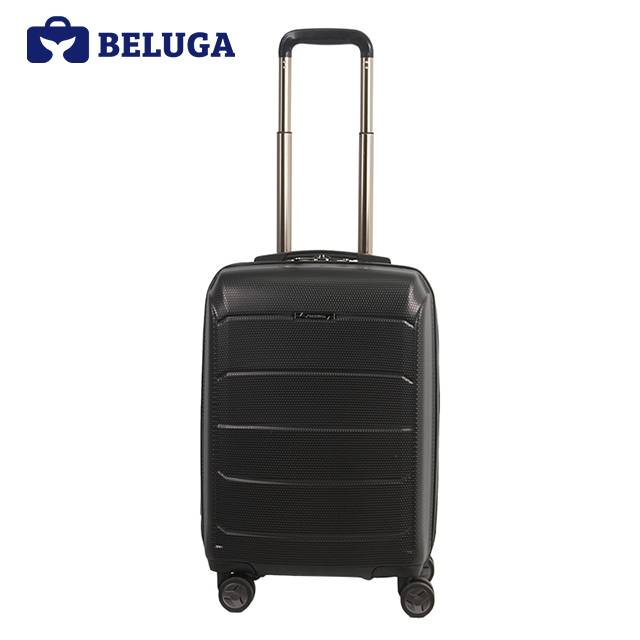 BELUGA Savvy Collection 20 Inches Travel Luggage Suitcase Black (Model:BE-SAVY-20B)