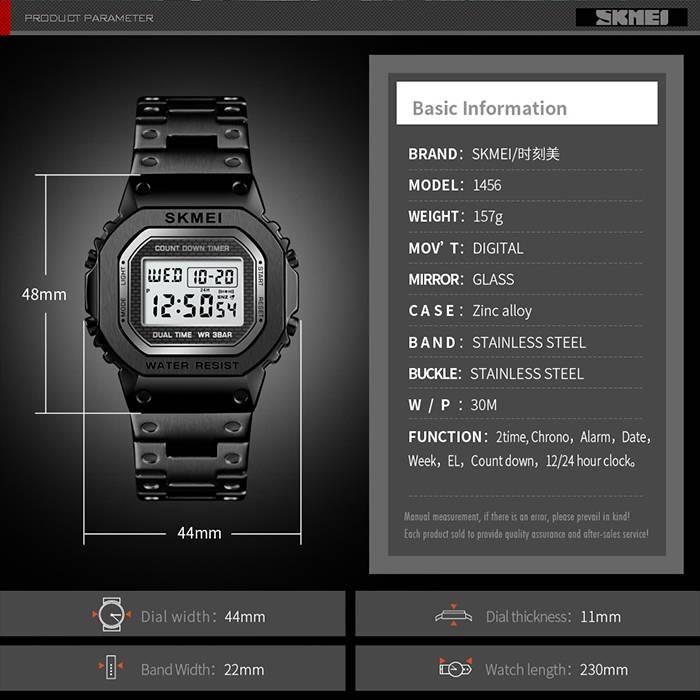 SKMEI LED Chronograph Waterproof Digital Women's Watch (Model: 1456)