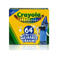 Crayola 64 ct. Ultra-Clean Washable Crayons (523287) (CRA0014)