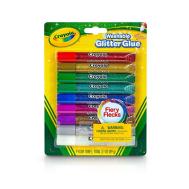 Crayola 9 ct. Washable Glitter Glue- Fiery Flecks™(693527) (CRA0008)