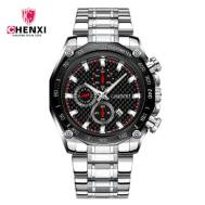 CHENXI 029B Stainless Steel Band Men Quartz Watch (Model:CX-029BB)