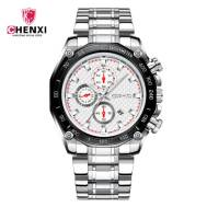 CHENXI 029B Stainless Steel Band Men Quartz Watch (Model:CX-029BW)
