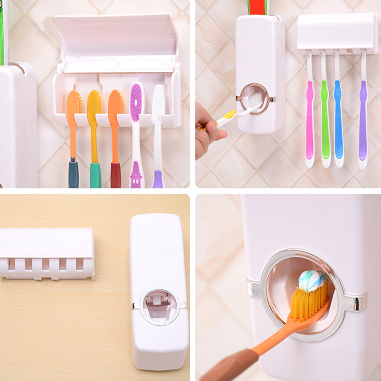 Hands-Free Toothpaste Dispenser (သြားတိုက္ေဆး ညွစ္စက္)