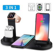 3 in 1 Multi Functional Charging Dock For iphone iwatch And Airpods & Andriod Charging Stand