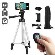 Portable Camera & Mobile Phone Tripod Stand (With Remote)