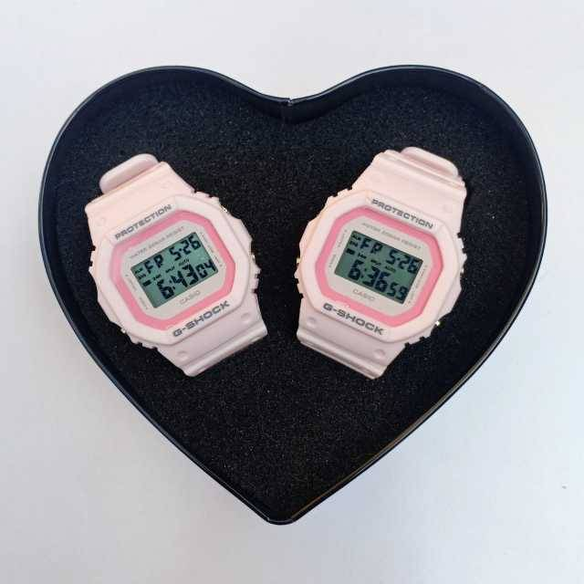 G-Shock Pink Out Digital Couple Watch DW5600 ( First Copy ) + Gift