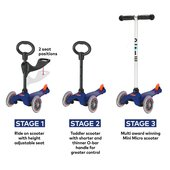 Monument Mini Micro 3in1 Classic Scooter : Blue(7640108564382)