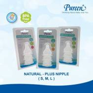 Pureen BPA-FREE NATURAL-PLUS NIPPLE - M  3'S  (31BFD108020)