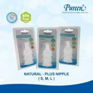 Pureen BPA-FREE NATURAL-PLUS NIPPLE - S  3'S  (31BFD108010)