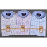 DICE Men Shirt LS 1303 Pink-Yellow- Green