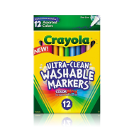 Crayola 12 ct. Ultra-Clean Washable Fine Line Markers - Assorted (587813) (CRA0024)