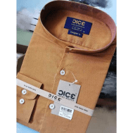 DICE Men Shirt LS Stiff 1040B - Golden yellow