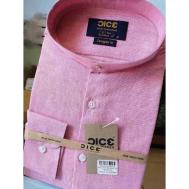 DICE Men Shirt LS Stiff 1040B - Pink