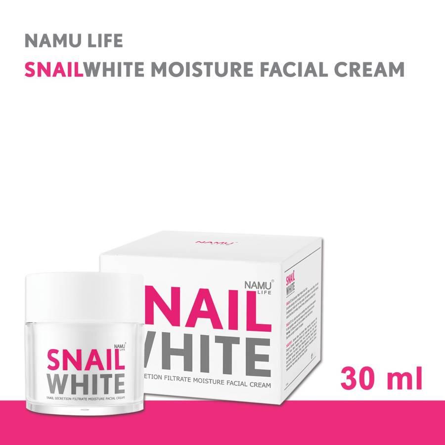 Namu Life SnailWhite Snail Filtration Filtrate Moisture Facial Cream 30 ml >> Get Namu Life SnailWhite Whipp Soap 100 g