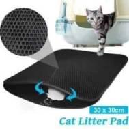Double-Layer Cat Sand Mat (S)