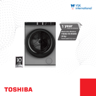 TOSHIBA 8 Kg Front Load (Fully Auto)(Wash&Dry) TWD BJ-90WMM