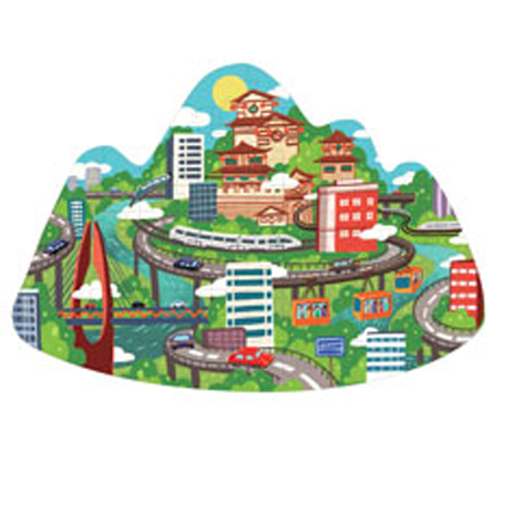 Monument Mountain City Puzzle Family(6972822070049)