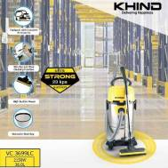 KHIND Vacuum Cleaner (36.0 Liters) Yellow VC-3699LC