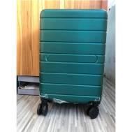 "20""Inch ABS Stripe Scratch Resistant Zipper 3 Digit Travel Password Lock Luggage (WL-20-003) Green"
